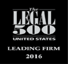 S&W ranked in the 2016 Edition of the Legal 500 United States